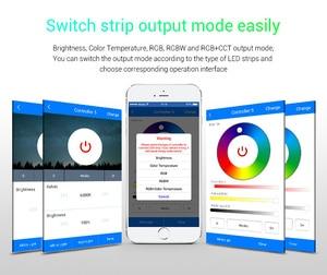 Image 5 - Miboxer wl5 2.4g 5 em 1 wifi led controlador para a única cor cct rgb rgbw rgb + cct led strip suporte amazon alexa controle de voz