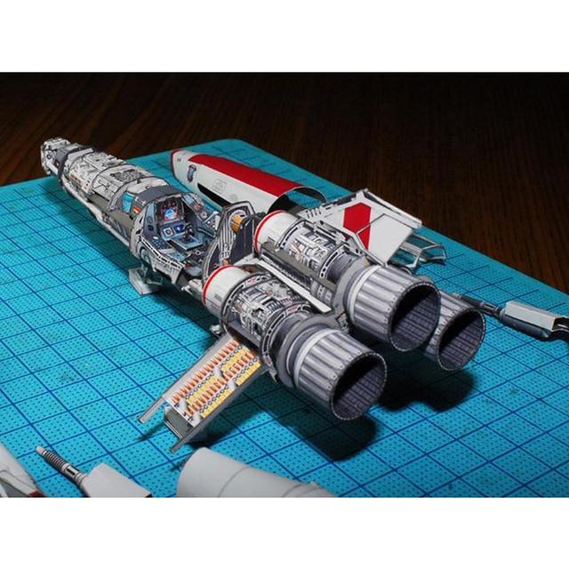 Battlestar Viper 2 Viper Mk2 3D Paper Model DIY Handmade Spacecraft Toy 6