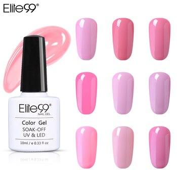 Elite99 10ml Rosa Farbe UV Gel Polnischen Vernis Semi Permanent Primer Top Mantel Nagel Gel Lack Nagel Kunst Maniküre gel Lak Nägel