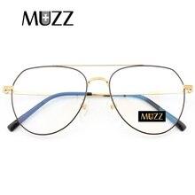 Pure titanium Prescrizione frame Pilot Occhiali Da uomo telaio Ultra leggero occhiali miopia Epoca grande titanium occhiali telaio