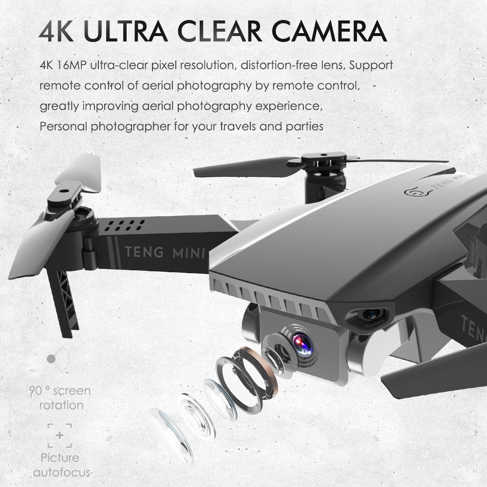 Teeggi M71 RC Drone with 4K HD Camera Foldable Mini Quadcopter WiFi FPV Selfie Drones Toys for Kids Dron VS SG106 SG107 E68 E58 1