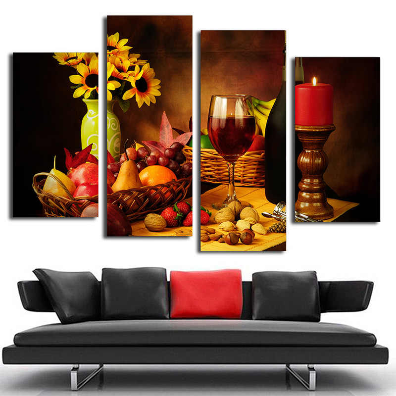 3Pcs Modern Home Canvas Wall Decor Art Painting Picture Print Red Wine /& Grape
