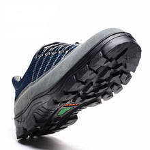 Labor insurance shoes, anti-smashing and puncture work oil acid safety summer breathable shoes