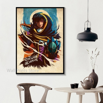 Home Decor Wall Art Code Geass Posters Vintage Canvas Print Poster Anime Poster Bar Decor Paintings No Frame 2