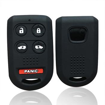 Żel krzemionkowy obudowa pilota z kluczykiem do samochodu Honda Odyssey akcesoria pilot samochodowy etui na kluczyk pilota do samochodu samochód stylizacji brelok do Honda Civic tanie i dobre opinie silicone key key cover for Honda Odyssey