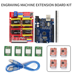 CNC Shield Expansion Board V3.0+ R3 Board With USB For Arduino+4pcs Stepper Motor Driver A4988 Kits For Arduino