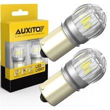 AUXITO 2 uds 1156 BA15S P21W luces LED de coche 3030 SMD S25 7506 bombilla LED COCHE DRL posición de estacionamiento de respaldo reverso lámpara 6000K blanco