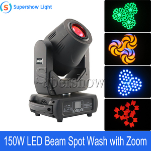 Image 5 - 4pcs With Flightcase 150W Beam Spot Wash Moving Head Light Led DMX Stage Light For Wedding Disco DJ Bar
