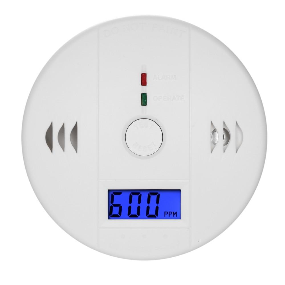 Detector de monóxido de carbono independente co sensor de gás display lcd 85db alarme de aviso