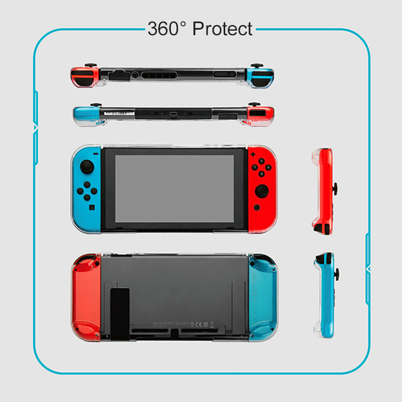 Gulikit NS17 Transparent Crystal Case For Nintendo Switch Lite NS Switch 360 Protector Shell Compatible With ROUTE AIR Dock