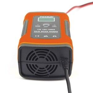 Image 3 - Hot Foxsur 12Vแบตเตอรี่เครื่องชาร์จประเภท12Ah 36Ah 45Ah 60Ah 100Ah Pulse Battery ChargerจอแสดงผลLcd Eu Plug