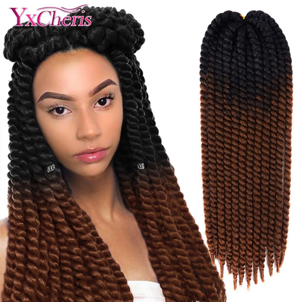 Havana Mambo Twist Hair Crochet Braids 22'' 120g 20 Color Ombre Synthetic Crochet Hair Braiding Hair YxCheris Purple