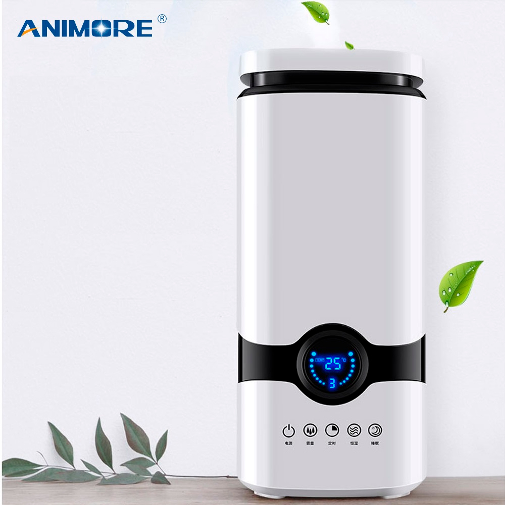 ANIMORE 4L Humidifier Top Fill Essential Oil Aroma Diffuser Cool Mist Ultrasonic Air Humidifier With Intelligent Remote Control