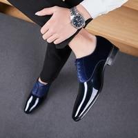 Männer Formal Business Schuhe Britischen Bräutigam Schuhe Comfy Business Männer Kleid Schuhe Patent Leder Büro Schuhe Hohe Qualität