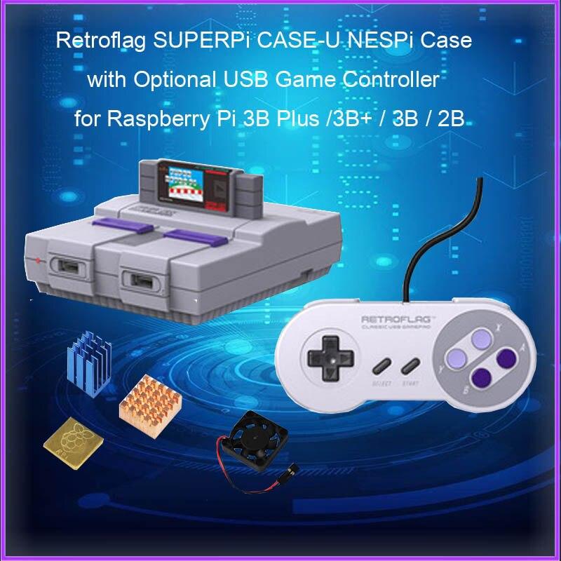Retroflag SUPERPi CASE-U NESPi Case With Optional USB Game Controller For Raspberry Pi 3B Plus /3B+ / 3B / 2B