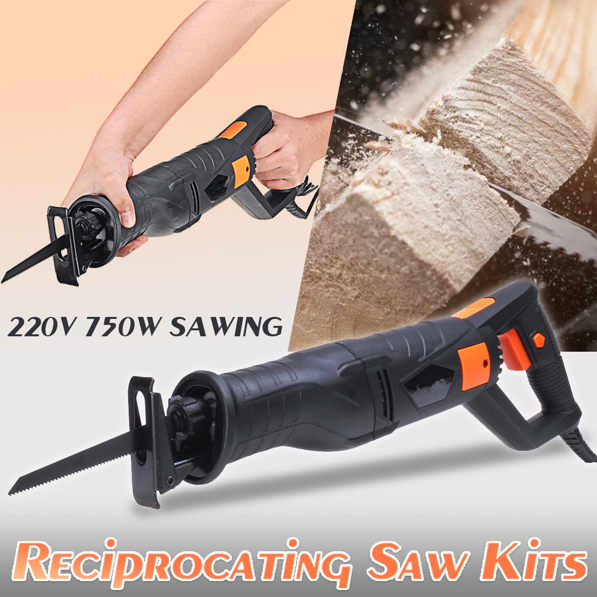 Electric Saw Reciprocating Saw for Wood Metal Plastic Pipe Cutting Power Saw Tool with Saw Blades Woodworking Cutter Power Tools