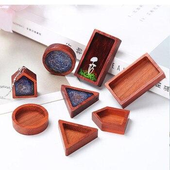1 pièce bois camée Cabochon réglage Base bois cadre pendentifs pour silicone moule fabrication de bijoux bricolage artisanat décoratif
