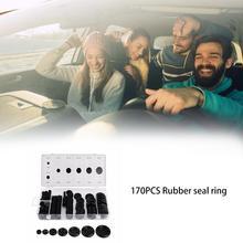 170PCS Rubber Seal Ring Firewall Hole Plug Set Car Wire Gasket
