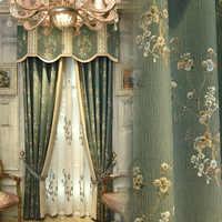 Высокоточная жаккардовая штора с шелковым позиционированием, в европейском, французском, американском стиле, для гостиной и спальни