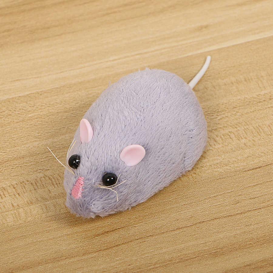 무선 전자 원격 제어 쥐 플러시 rc 마우스 장난감 뜨거운 몰려 들고 에뮬레이션 장난감 쥐 고양이 개, 농담 무서운 트릭 완구