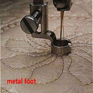"1/4"" METAL RULER FOOT Frame Quilting Embroidery Low Shank Singer Pfaff Viking Brother EN-01 and EN-01J(China)"