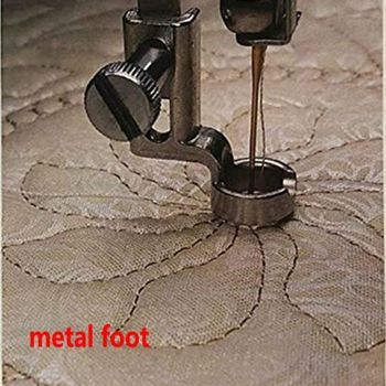 "1/4"" METAL RULER FOOT Frame Quilting Embroidery Low Shank Singer Pfaff Viking Brother EN-01 and EN-01J"