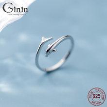 Ginin реальные 925 Серебряное кольцо для женщин в Корейском