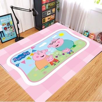 Peppa Pig Anti-slip Flannel Mat Peppa Door Mat Kid Room 3D Cartoon Floor Mat Washable Kitchen Bathroom Carpet Christmas Gift 14