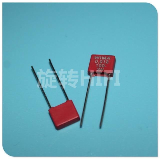 20PCS ใหม่สีแดง WIMA MKS2 12NF 100V P5MM 0.012UF 123/100V 123 mks 2 12N 0.012u100v
