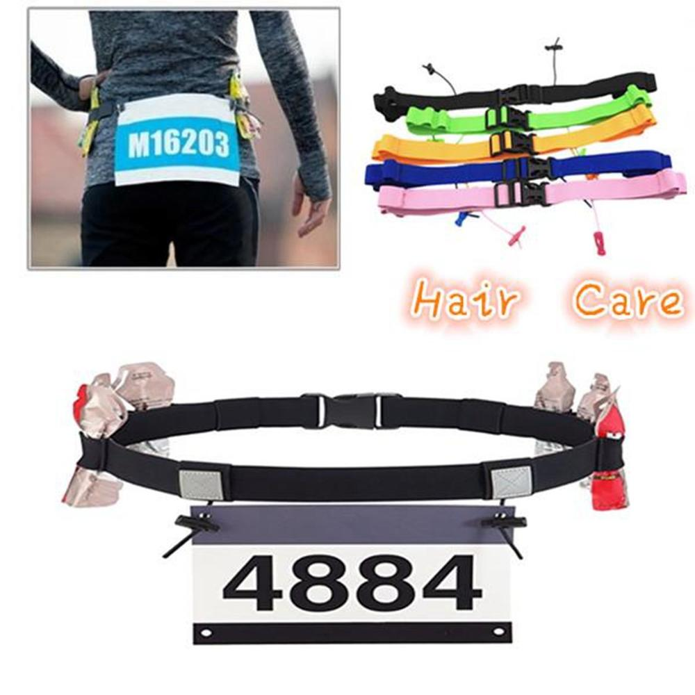 Unisex Triathlon Marathon Race Number Belt Support Running Belt Outdoor Sports  Race Number Belt Hardloop BandT#