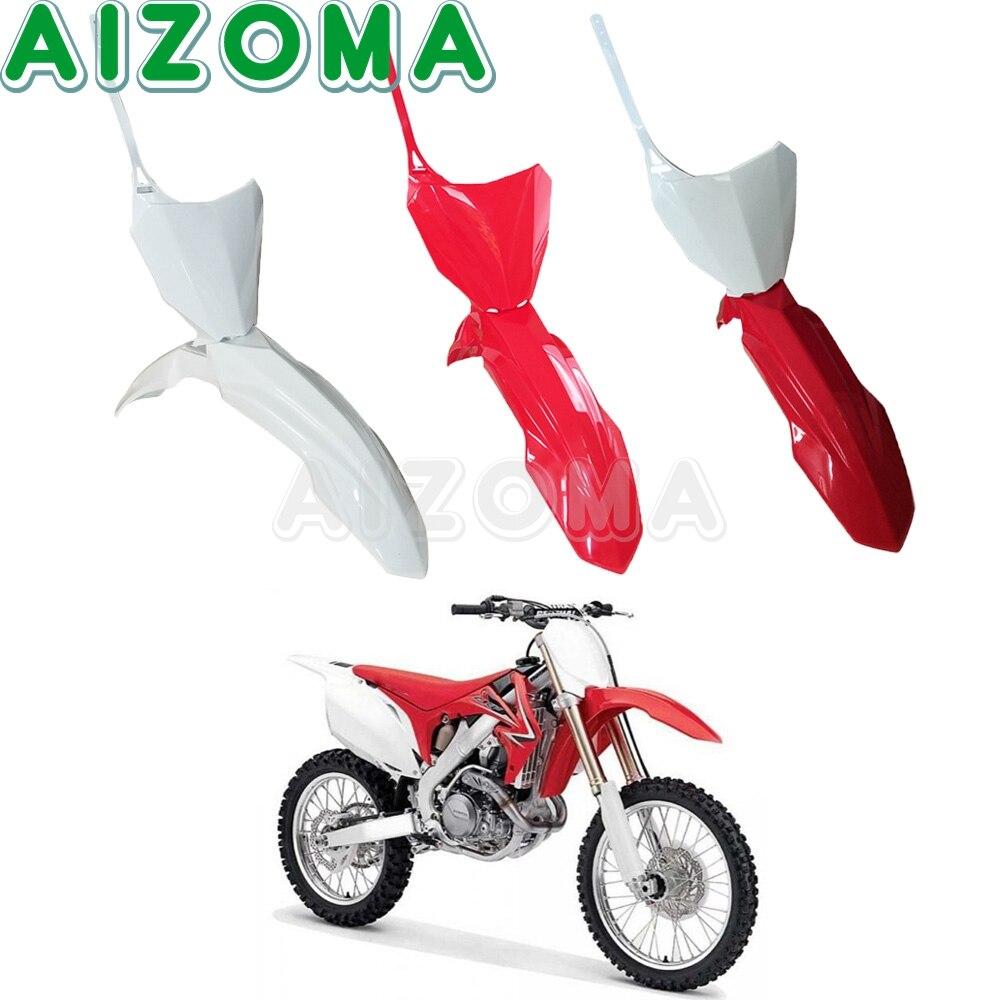 Für Honda CRF250R CRF450R CRF250RX CRF450RX Motocross Front Anzahl Platte Kunststoff Abdeckung Fender Schmutz Kotflügel CRF 250 450 R/RX 2