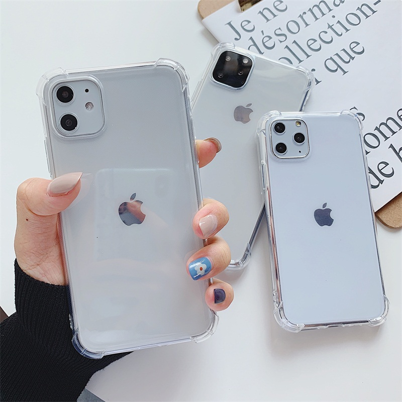 Luxury Anti-knock Transparent <font><b>Silicone</b></font> Tpu Soft Cover Phone <font><b>Case</b></font> For <font><b>IPhone</b></font> 11 Pro Max 6 <font><b>6s</b></font> 7 8 Plus X Xs Xs Max Soft Back Cover image