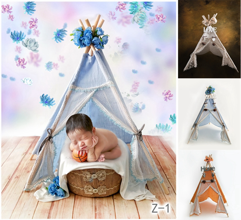 Newborn Photography Props Mini Wigwam Tent Studio Shooting Teepee Baby Photo Prop,#P2906