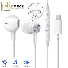 USB סוג C Google שבב אוזניות מגנטי ספורט סטריאו אוזניות עם Wired בקרת עבור HUAWEI Mate P30 20 פרו Xiaomi 8 סמסונג