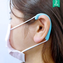 1Pair Face Mask Ear Protector Anti Pain Mask Strap Hook Silicone Mask Band Ear Cover Mask Accessories
