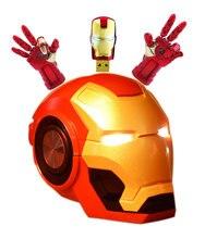 Iron Man Draadloze Speaker Bluetooth Luidspreker Portable Soundbox Met Micro Sd Play/Fm Functies Voor Telefoon Computer Tablet Pc