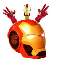 Iron Man wireless speaker Bluetooth loudspeaker portable soundbox with Micro SD play/ FM functions for phone computer tablet PC