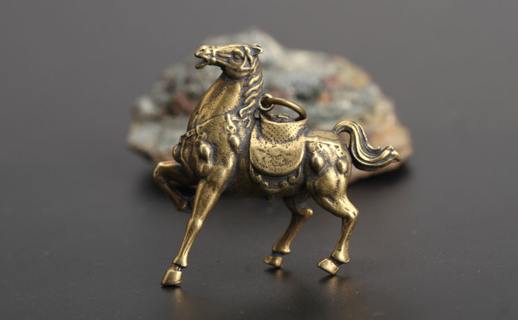 Copper Running War Horse Figurines  (9)