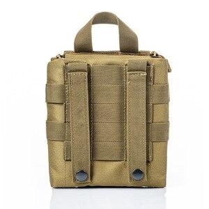 Image 4 - 캠핑 응급 처치 키트 응급 처치 가방 빈 의료 가방 방수 군사 전술 블랙 야외