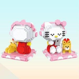 Image 2 - マイクロhcマジックブロック漫画ビルのおもちゃアニメ猫モデルbrinquedosオークションフィギュアのおもちゃ子供のギフト9070