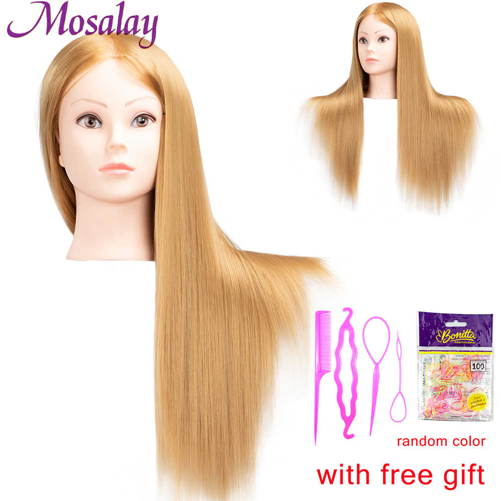 65cm Synthetic Hair Dolls Head For Hairdressers Mannequin Head Hairstyles Female Hairdressing Styling Training Head Aliexpress