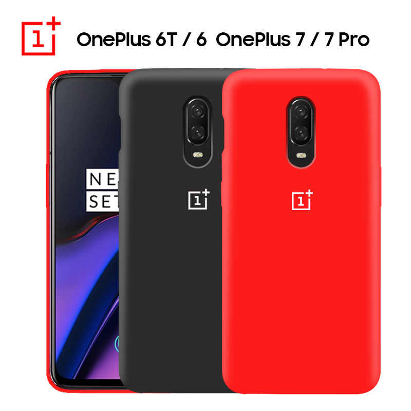 OnePlus 6T Case Original Liquid State Silicone Soft Shockproof Case OnePlus 7 Pro Case TPU Full Protect Oneplus 6 6T Cover Capa