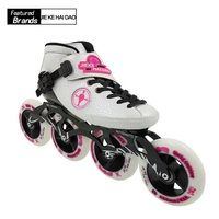 Professional Speed Skate Shoes Adults/Child Roller Skating Boots White Black Inline Skates Big Round Wheel Carbon Fiber Shoes