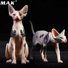 Figurine d'action animale Jxk026, Version tatouage, modèle Sphinx pour chat debout ou assis, en stock, 1/6