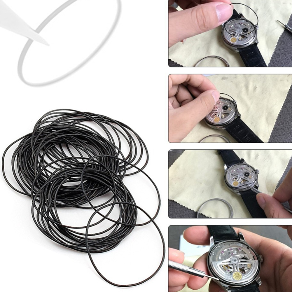 0 5 0 6 0 7mm Dia Rubber O Ring Waterproof Round Watch Back Gasket Rubber Seal Washers Set Watch Repair Tool 12 30mm watch parts in Repair Tools Kits from Watches