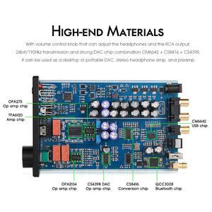 Image 5 - Nobsound Mini Bluetooth 5.0 USB DAC Audio Decoder Stereo HiFi Headphone Amplifier Optical AUX Black/Silver