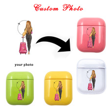 Candy Customized DIY Photo For Apple Airpods Cover Case Printed Transparent Hard Plastic Clear  Accessories