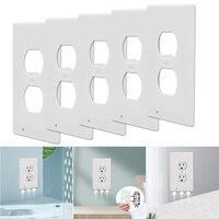 5 Pack Nacht Licht Umgebungs Licht Sensor Duplex Hohe-qualität Durable Bequem Outlet Abdeckung Wand Platte Mit Led Nacht lichter