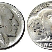 US 1936 с гравировкой в виде американского бизона из никеля пять центов копия монеты