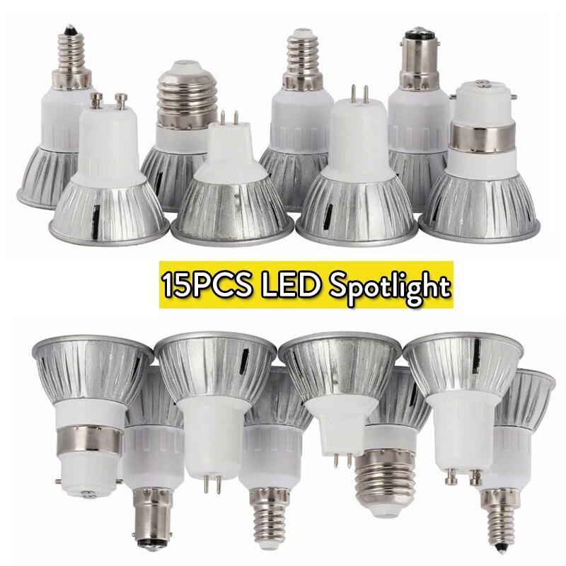 Wholesale Mini LED Spotlight Bulbs 3W GU10 MR16 GU5.3 110V 220V 15W Equivalent